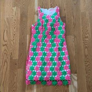 Dresses & Skirts - Lilly Pulitzer cotton crochet mini dress 60s style